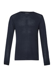 French Connection Swipe Knits Ls Crew Nk Jumper Marine