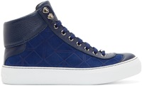 Navy Suede Origami High Tops
