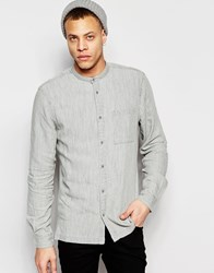 Waven Denim Shirt Arne Grandad Washed Gray Washed Gray