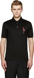 Marc Jacobs Black Flamingo Polo Shirt