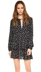 Free People Drapey Ny Printed Beck Dress Black Combo