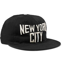 Ebbets Field Flannels New York City Embroidered Cotton Twill Baseball Cap Black