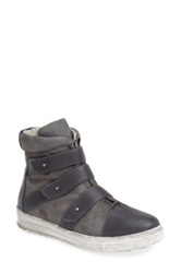 Plomo 'Libby' Leather And Suede High Top Sneaker Gray