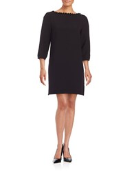 French Connection Three Quarter Sleeve Shift Dress Black