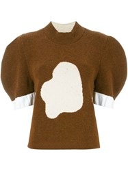 J.W.Anderson J.W. Anderson Puffed Sleeve Cloud Jumper Brown