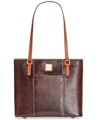Dooney And Bourke Lizard Embossed Small Lexington Shopper A Macy's Exclusive Style Cognac
