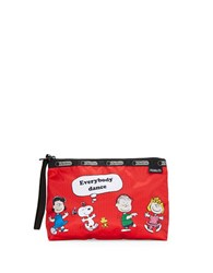 Le Sport Sac Peanuts X Lesportsac Cosmetics Bag0500087012498 Red