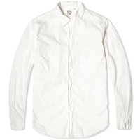 Orslow Double Pocket Chambray Shirt White