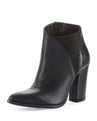 Charles David Charla Asymmetric Skived Leather Bootie Black