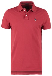 Abercrombie And Fitch Core Muscle Fit Polo Shirt Burg Bordeaux