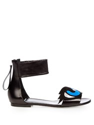 Pierre Hardy Oh Roy Suede Sandals Black Multi