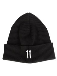 11 By Boris Bidjan Saberi Embroidered Logo Beanie Black