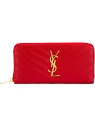 Saint Laurent 'Monogram' Wallet Red