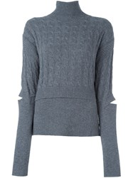 Dorothee Schumacher Turtle Neck Jumper Grey