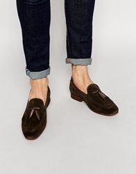 H By Hudson Pierre Tassel Loafers Brown