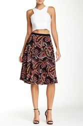 Bobeau Fit And Flare Midi Skirt Pink