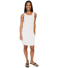 Carve Designs Meadow Dress Regatta Stripe Women's Dress White