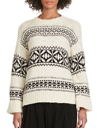 Polo Ralph Lauren Geometric Crewneck Sweater Cream Black