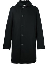 Stephan Schneider Buttoned Hooded Coat Black
