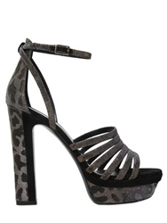 Tamara Mellon 130Mm Supreme Lurex Leopard Sandals