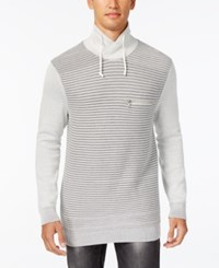 Inc International Concepts Men's Textured Funnel Neck Sweater Only At Macy's Vintage White