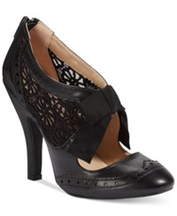 Dolce By Mojo Moxy Hokus Lace Shooties Women's Shoes Black Lace