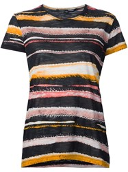 Proenza Schouler Striped T Shirt Yellow And Orange