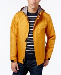 London Fog Men's Hooded Raincoat Mustard