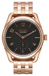 Men's Nixon 'C39' Bracelet Watch 39Mm Rose Gold Black