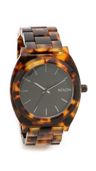 Nixon Time Teller Acetate Watch Tortoise Black