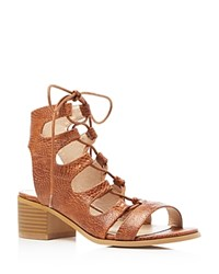 Catherine Malandrino Adelaide Lace Up Sandals Compare At 74 Cognac