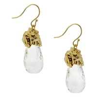 Lori Kaplan Jewelry Rock Crystal Drop Earrings Silver