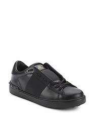 Valentino Studded Leather Sneakers Black
