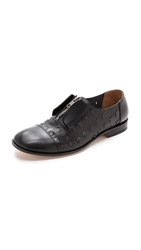 Maison Martin Margiela Cutout Leather Oxfords Black