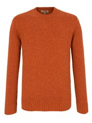 Gibson Plain Crew Neck Pull Over Jumpers Orange