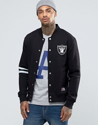 Majestic Raiders Letterman Jacket Black