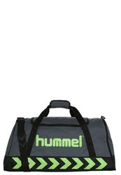 Hummel Stay Authentic L Sports Bag Dark Slate Green Flash Anthracite