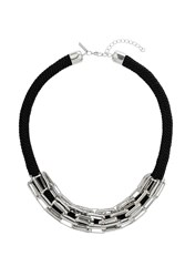 Topshop Metal Link Rope Necklace Black