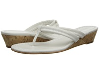 Bernardo Miami Wedge White Calf White Calf Women's Wedge Shoes