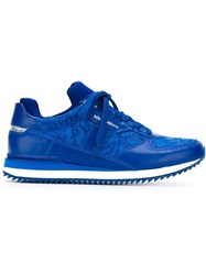 Dolce And Gabbana Lace Panel Sneakers Blue