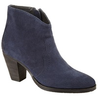 John Lewis Paige Western Suede Ankle Boots Navy