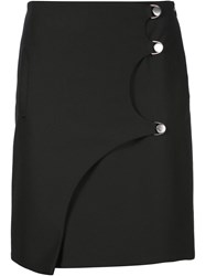 Opening Ceremony Buttoned Mini Skirt Black