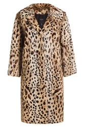 Anna Sui Animal Print Fur Coat Animal Prints