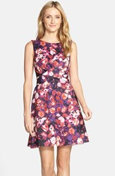 Women's Kut From The Kloth Floral Print Scuba Fit And Flare Dress
