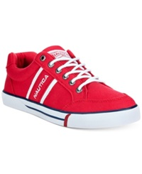 Nautica Hull Canvas Sneakers Men's Shoes Tango Red