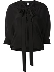 Derek Lam Tie Neck Blouse Black