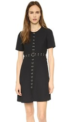 The Kooples Crepe Dress With Ring Details Black