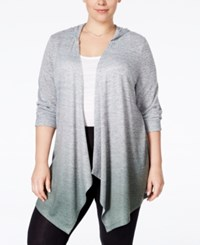 Styleandco. Style And Co. Plus Size Dip Dyed High Low Cardigan Only At Macy's Evening Olive