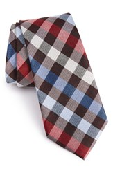 Calibrate Men's Buffalo Check Silk Tie