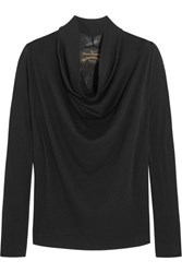 Vivienne Westwood Anglomania Fold Wool Top Black